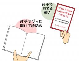 日本の本にはなぜカバー?と、ペーパーバックの読みやすさについて