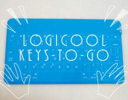 iPad&iPhone用bluetooth無線キーボードなら軽い&薄い&防水のlogicool「KEYS-TO-GO」。8時間使用でも22日使える長時間バッテリー!