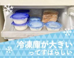 「冷凍スペースが大きい冷蔵庫」が全力でおすすめな理由。「買い物」と「料理」の回数が減った先には時短の世界。